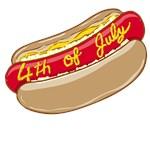 4th of July Hot Dog T-Shirt