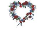 Patriotic Heart Wreath T-Shirts