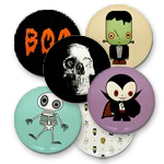 Halloween Buttons and Magnets