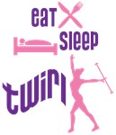 Eat Sleep Twirl Pink