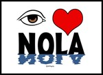 Eye Love NOLA (brown)