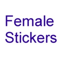Female Martial Arts Karate Stickers
