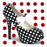 Red Hot Polka Dot Heels