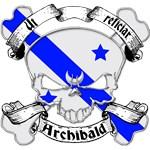 Archibald Family Crest Skull