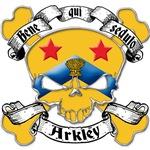 Arkley Family Crest Skull
