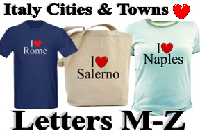 Italy Cities & Towns - Letters M-Z