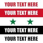 Custom Text Syria Flag