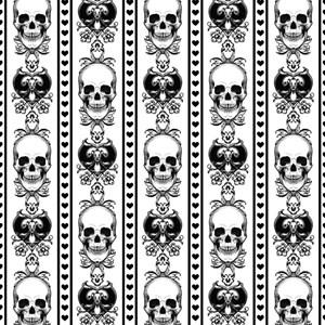 Baroque Skull Stripe Pattern