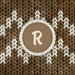 Monogram Brown Knit Graphic