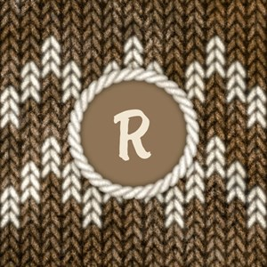 Monogram Brown Knit Graphic