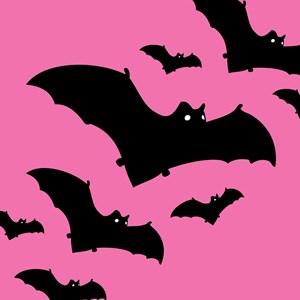 Pink Halloween Bats