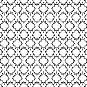 Gothic Black And White Tile Pattern