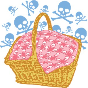 Cute Skulls Picnic Basket