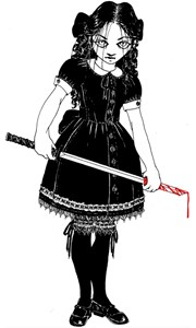 Scary Girl With Sword