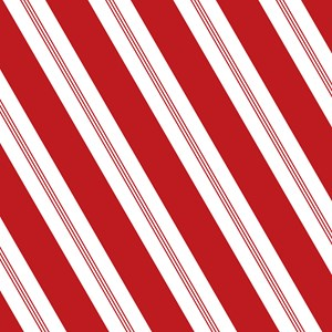 Red Candy Stripe Large