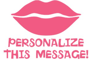 Personalized Cute Pink Lips