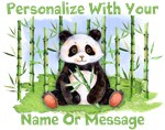 Personalized Panda And Bamboo