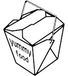 Yummy Food Take Out Box