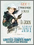 Gee I Wish I Were A Man I'd Join the Navy T-shirts