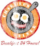 Retro Charlie's Diner Breakfast T-shirts