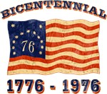 Retro 1776-1976 Flag T-shirts