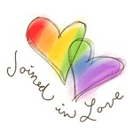 Joined in Love Rainbow Hearts T-shirts & Gifts