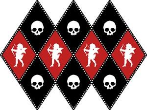 Cherub And Skull Pattern