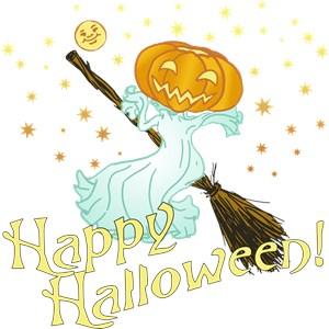 Retro Halloween Pumpkin Witch