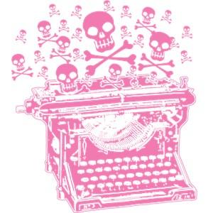 Pink Skull Typewriter
