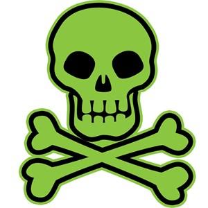 Skull And Crossbones Green