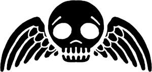 Gothic Winged Skull