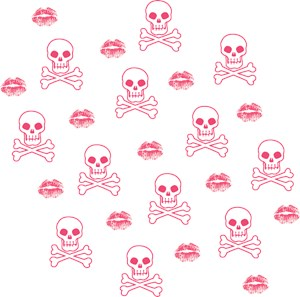 Pink Kisses And Skulls