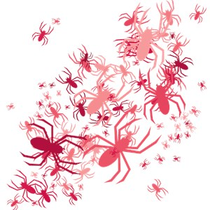 Lots Of Pink Spiders