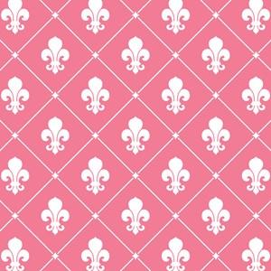 Pink Fleur De Lis Pattern