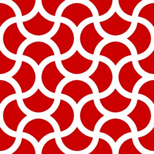 Wavy Scale Pattern Red Large