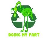 recycle flamingo