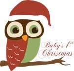 Baby's 1st Christmas Santa Owl