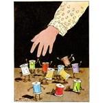 Vintage Sewing Cartoon - Dancing Thread