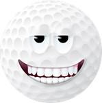 Golf Ball 2 Smiley Face