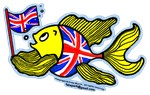 British Fish with a Union Jack Flag