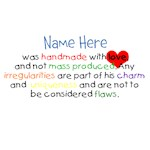 Customised Handmade with Love