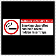 Warning: Smoking Cigarettes can help reveal hidden