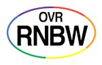 Over the Rainbow is the perfect bumper sticker which has shortened the phrase to OVR RNBW.  Show everyone that you are a Wizard of Oz fan in all the colors of the rainbow.