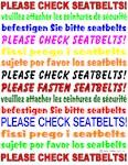 *NEW DESIGN* Seatbelts Please!