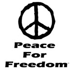 Peace For Freedom Sign Logo ~