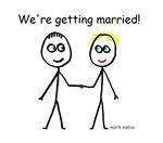 Getting Married Stick Figures