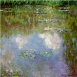 Monet Waterlillies And Clouds