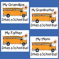 Family school bus gifts