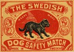 Swedish Dog Matchbox Label I