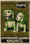 Pups Matchbox Label